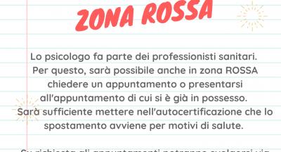 Zona ROSSA e professionisti della salute